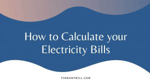 how to calculate electricity bills